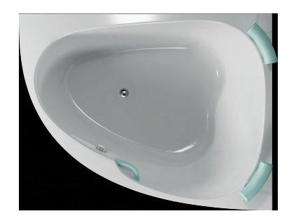 TEIKO Vaňa Spinell 180 P rohová 180x130 cm, akrylátová, biela, pravá V110180R04T02001  Nohy zdarma