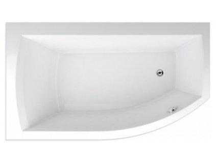 TEIKO Vaňa Thera new 160 x 98 cm rohová, akrylátová, biela, ľavá Basic V210160L04T12011