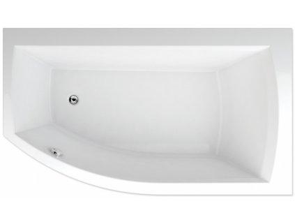 TEIKO Vaňa Thera new 160 x 98 cm rohová, akrylátová, biela, pravá Basic V110160L04T12001