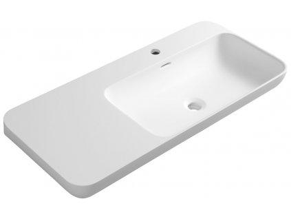 Sapho NIAGARA umývadlo 900x140x400mm, matná biela WN972