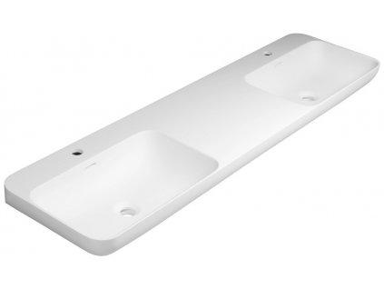 Sapho NIAGARA dvojumývadlo 1500x140x400mm, matná biela WN975