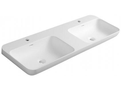 Sapho NIAGARA dvojumývadlo 1200x140x400mm, matná biela WN974