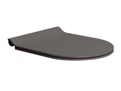 GSI WC sedátko Soft Close SLIM, duroplast, bistro mat/chróm MS86CSN16