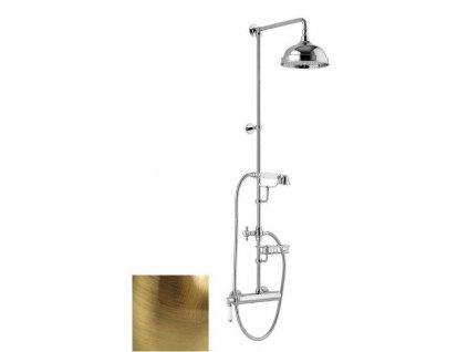 Sapho VIENNA sprchový stĺp s pák. batériou, mydeľnička, v. 1267mm,bronz VO139BR