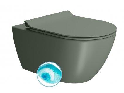 GSI PURA závesná WC misa, Swirlflush, 55x36 cm, agave dual-mat 881504