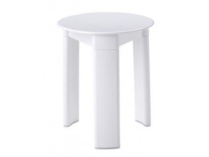 Aqualine TRIO kúpeľňová stolička, priemer 33x40 cm, biely 2072