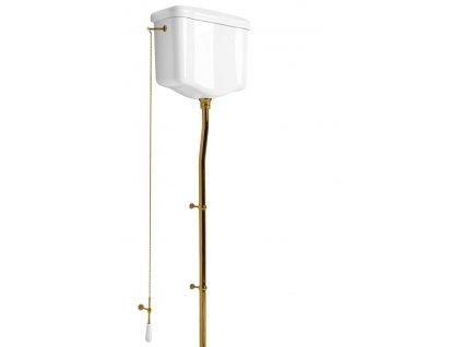 Kerasan WALDORF-RETRO splachovací mechanismus s retiazkou, bronz 754593