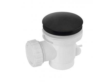 Polysan Vaňový odpad, Click Clack, pre vane bez prepadu, čierna 71704B