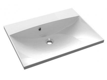 Sapho MARIA umývadlo 60x46cm, liaty mramor bez otvoru pre batériu, biela MA060-0