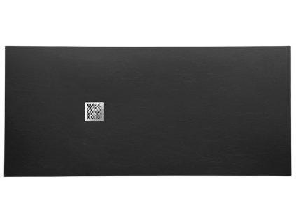 Gelco MITIA sprchová vanička z liateho mramoru, obdĺžnik 200x90x3 cm, čierna PMC20090