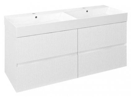 Sapho FILENA umývadlová skrinka 118x51,5x43cm, biela FID1212B
