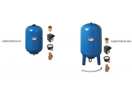 vybavená nádoba pro ponorné čerpadlo 500l