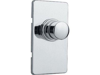 Silfra QUIK samouzatvárací podomietkový WC ventil, chróm QK82051
