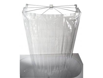 Ridder OMBRELLA skladacia sprchová kabína, 100x70cm, priehľadná 58200