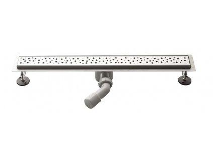 Aqualine BUCANERA nerezový sprchový kanálik s roštom, 800x110x90 mm NO3180