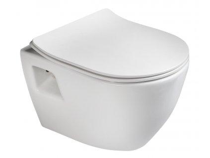 Sapho PAULA WC závesné 35,5x50cm, biela TP325