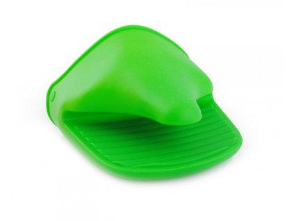 14774 silikonova kuchynska rukavice zelena