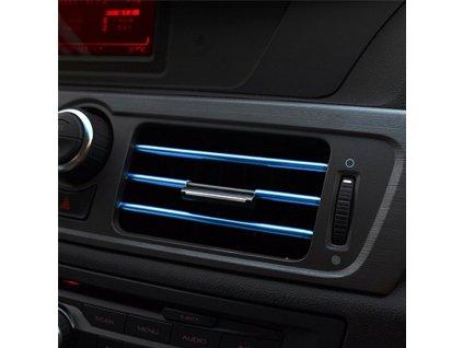 73002 dekoracni listy na ventilacni mrizku auta modra