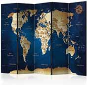 Paravány mapy světa