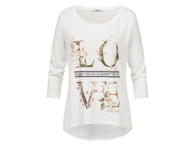 Dámske smotanové tričko HLS LORIE