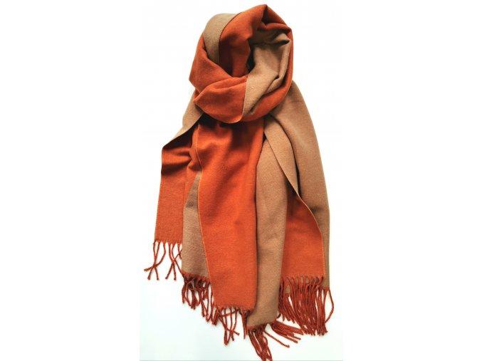 Hrejivý dvojfarebný šál