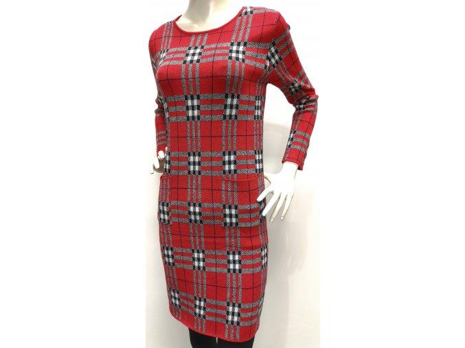 Dámske kárované šaty