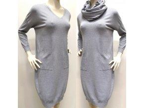Úpletové šaty PALMA s nákrčníkom
