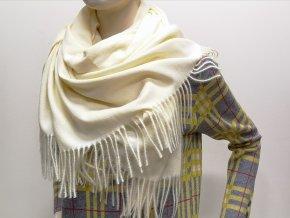 Hrejivý vlnený jednofarebný šál