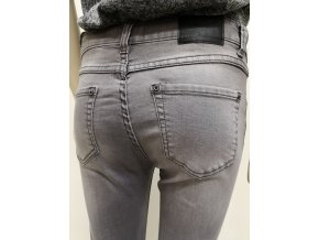 Dámske sivé skinny džínsy HLS VALERIA