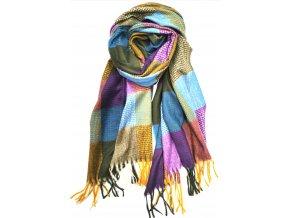 Hrejivý vlnený farebný šál