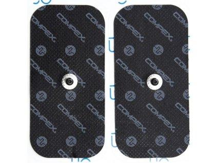 compex accessoire electrode noir rectangle 1 snap x2