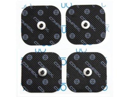 compex accessoire electrode noir carre x4 2