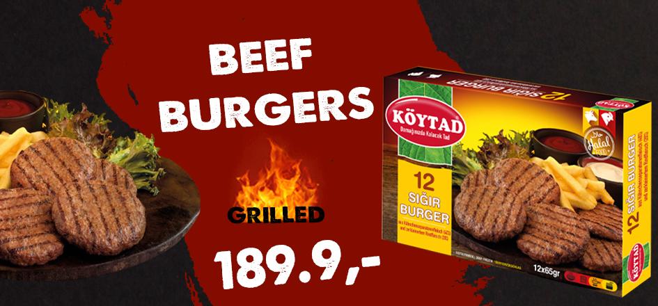 Köytad Beef Burgers 780g