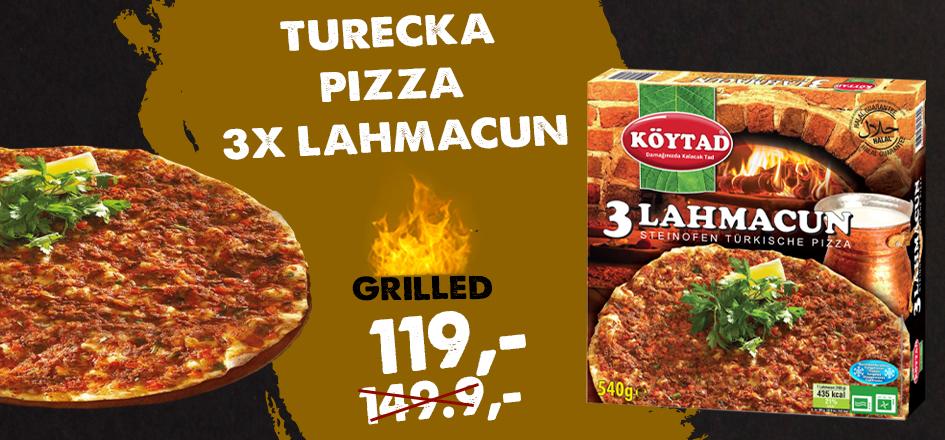 Turecká pizza 3x Lahmacun 540g