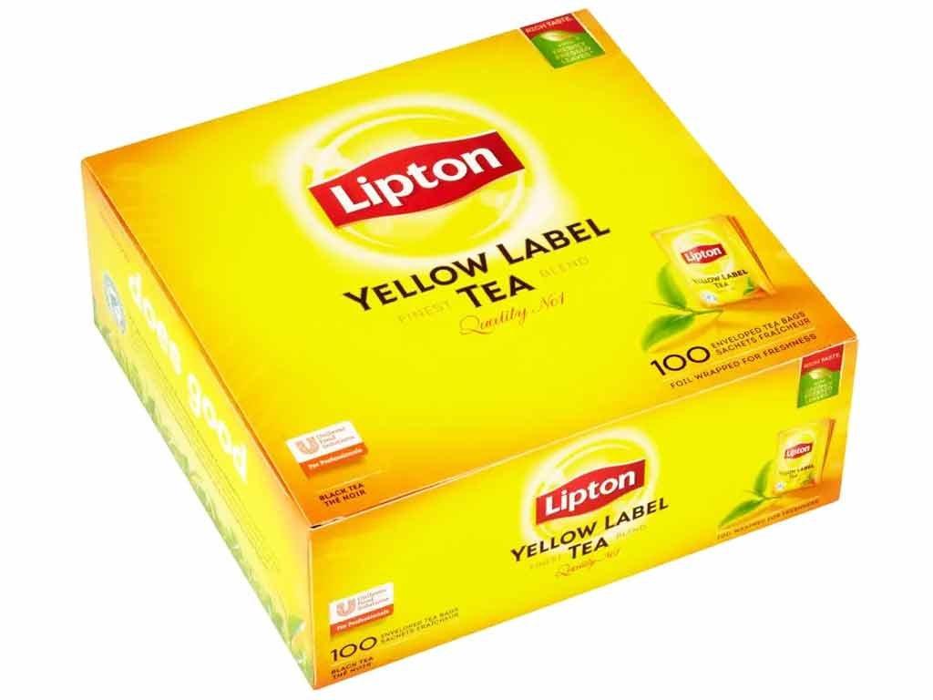 Lipton Čaj černý Yellow Label, Sáčky 100ks