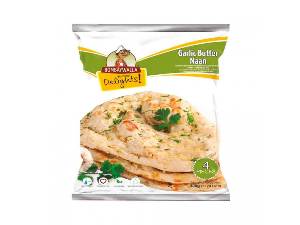 Bombaywalla Naan Garlic Butter 400g