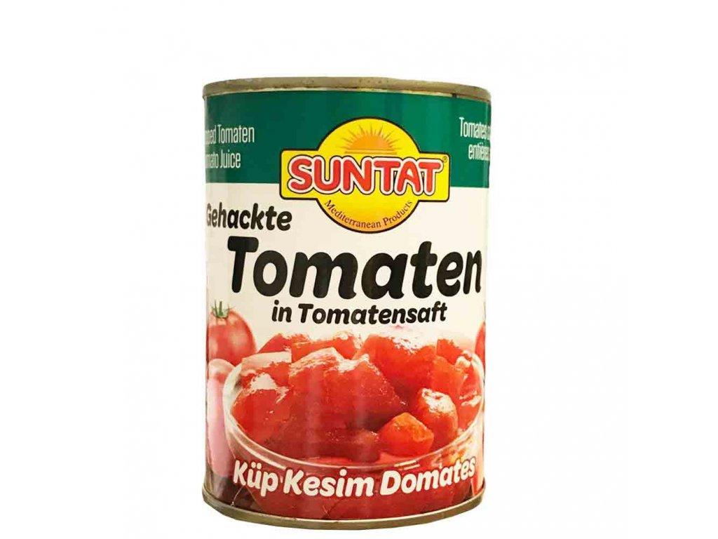 Nakrájená rajčata v rajčatové šťávě 400g