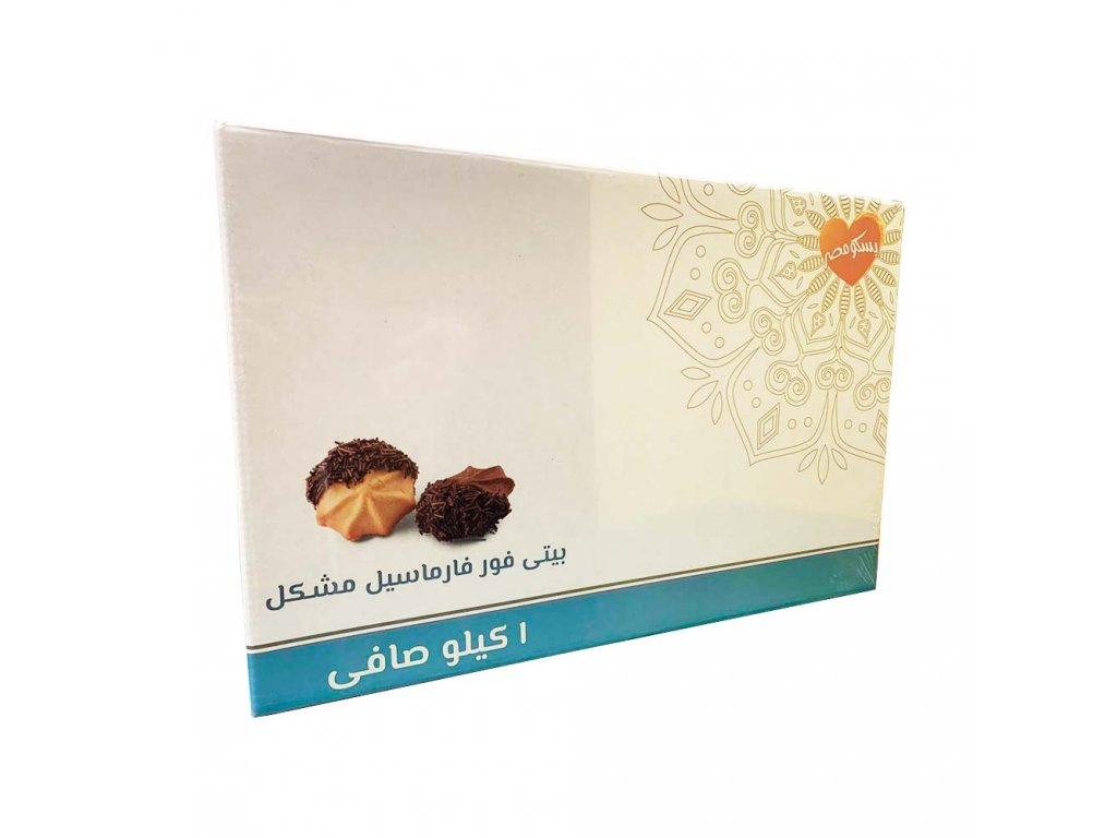 Bisco Misr sušenky čokoládové a vanilkové plněné marmeládou 1kg