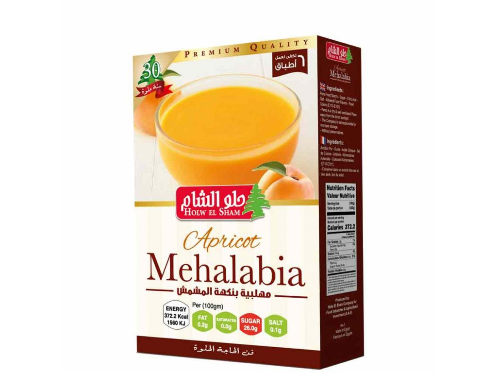 Holw Al Sham Apricot Mehalabia 80g