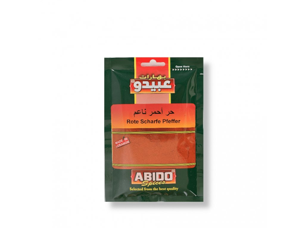 Abido Paprika červená Ostrá 50g