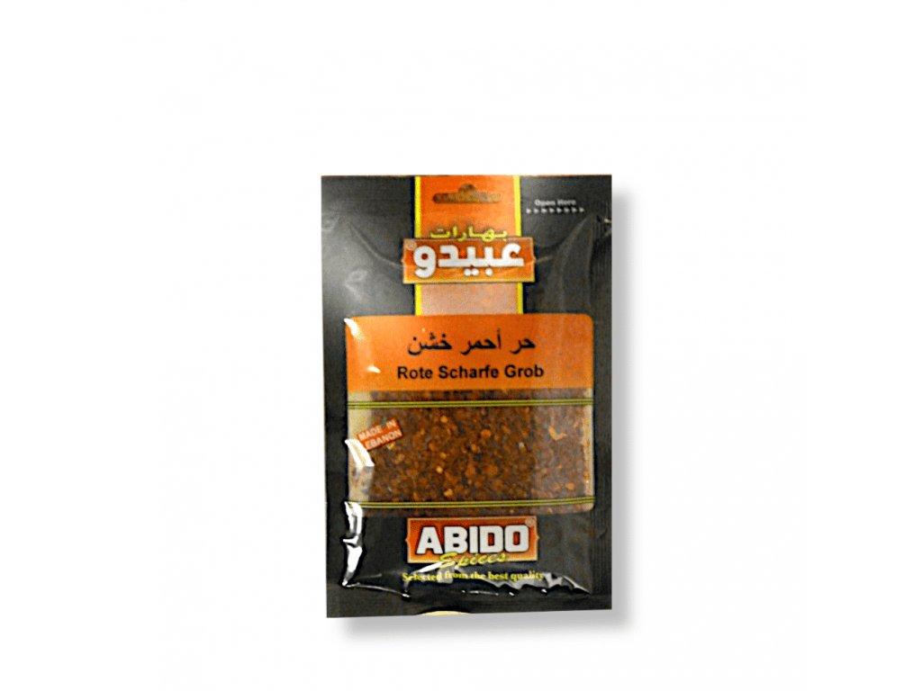 Abido Paprika červená ostrá hrubá 50g