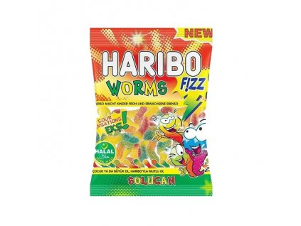 Haribo bonbóny, Fizz Worms 80g