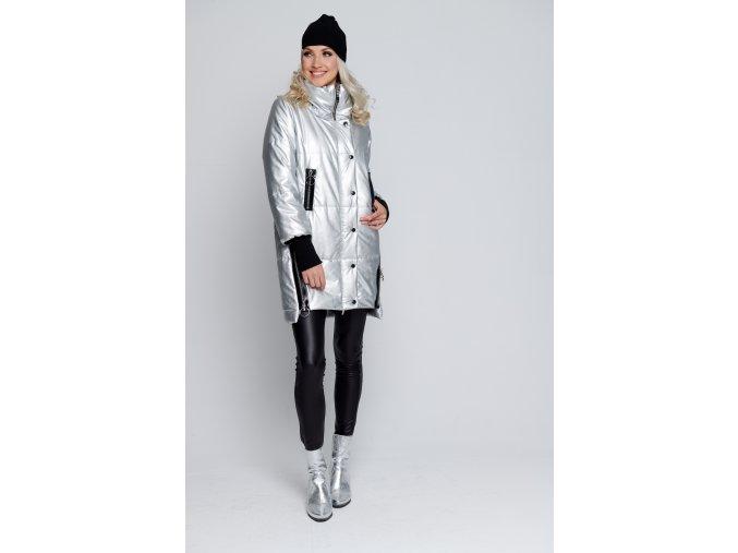 Luxusní stříbrná bunda