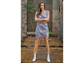 Šaty se zebrovým pruhem