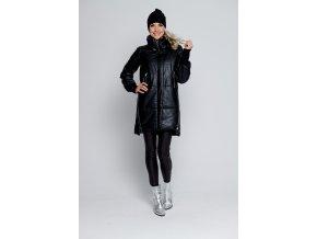 Luxusní zimní černá bunda