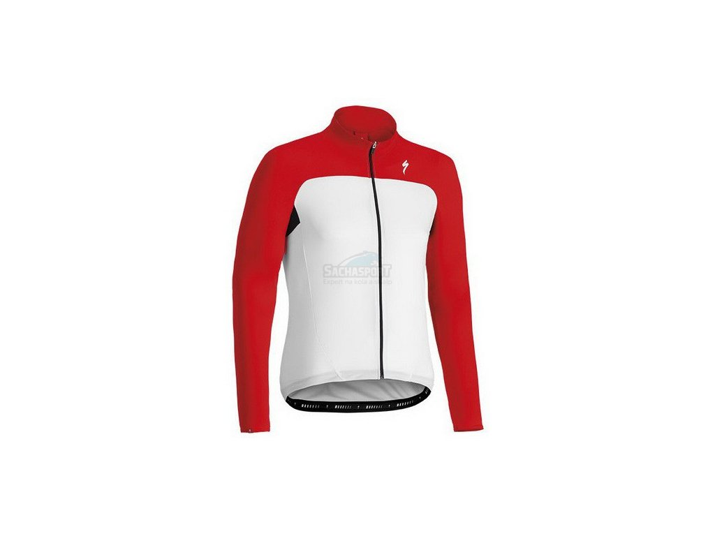 Dres Specialized Rbx Sport Jersey LS white/red 2014