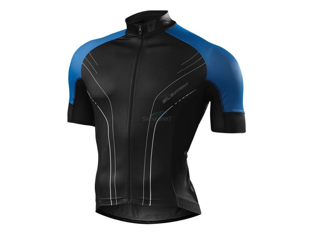Dres Specialized SL Expert SS Jersey black/neon blue M 2014