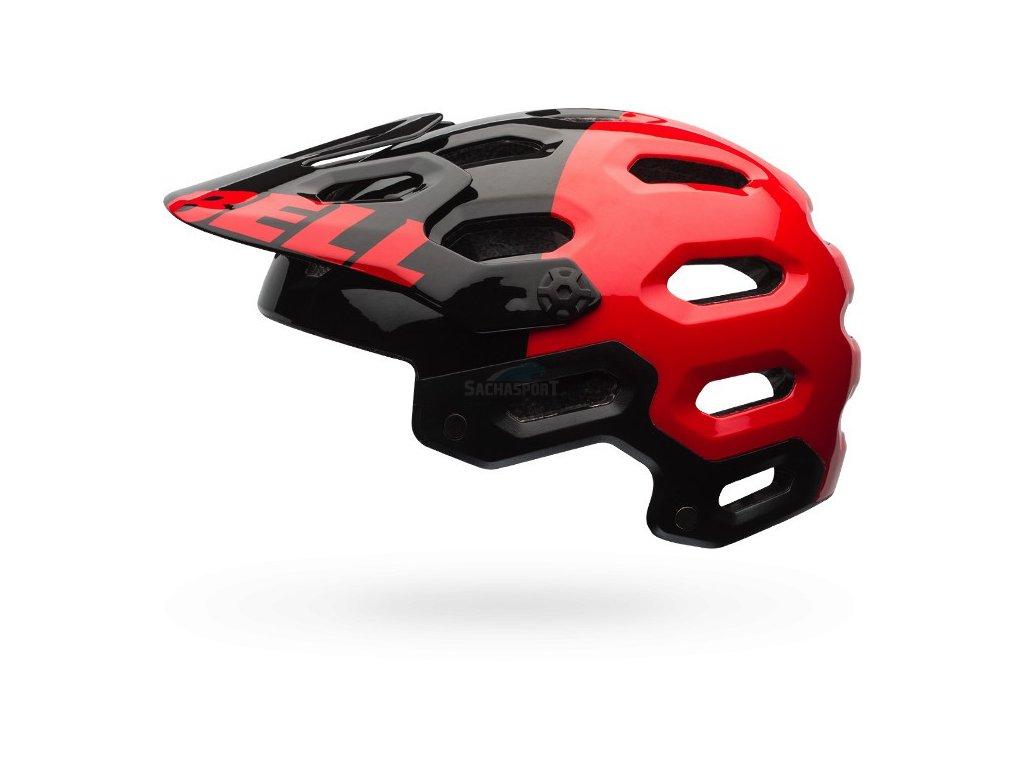 Bell Super 2 red/black agresn