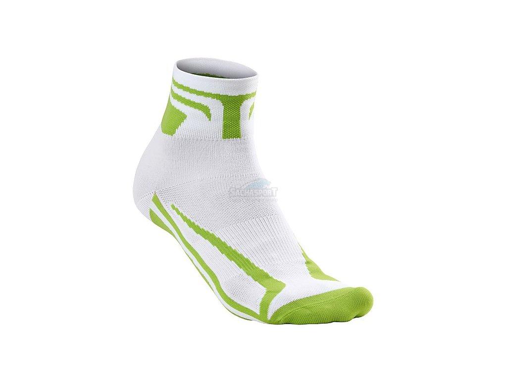 Ponožky Specialized SL Expert Sock WMN white/hyper green 2016
