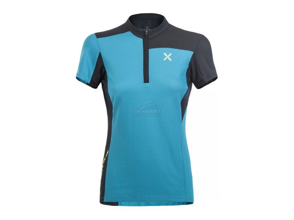 Dres Montura Selce Zip T-Shirt Woman petrol 2019